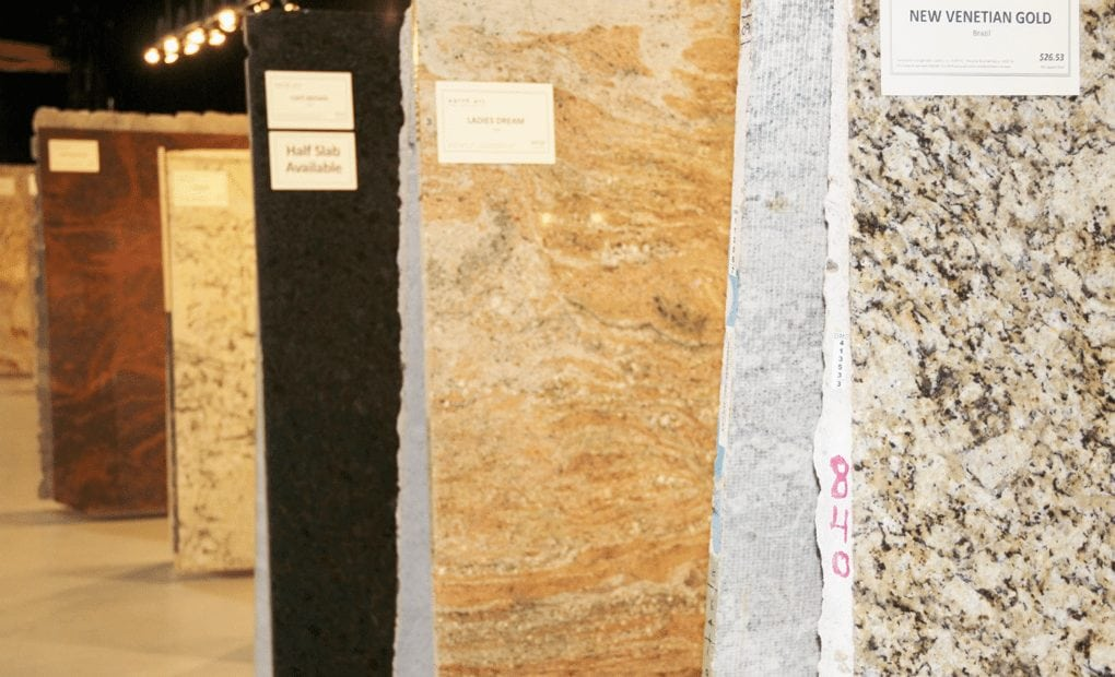 slabs of granite