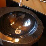 black bathroom sink