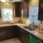 beige kitchen counters