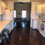 white kitchen counters