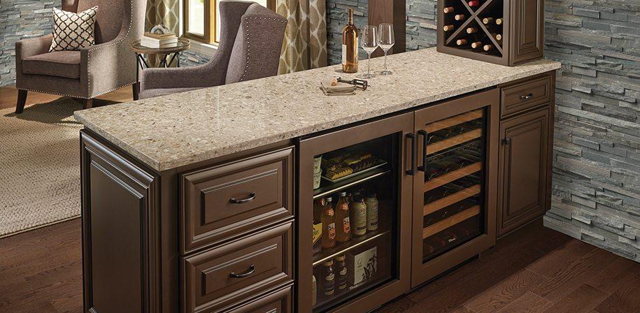 beige quartz bar