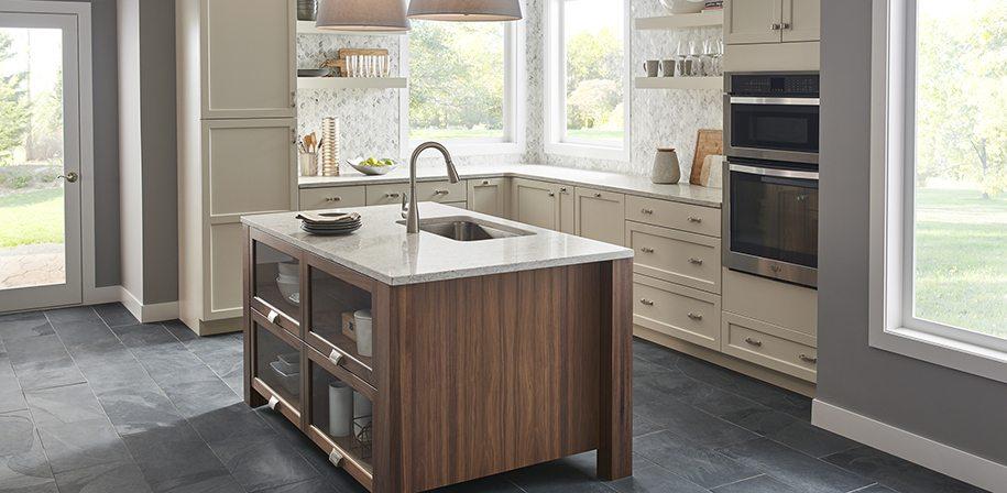 gray quartz kitchen counters