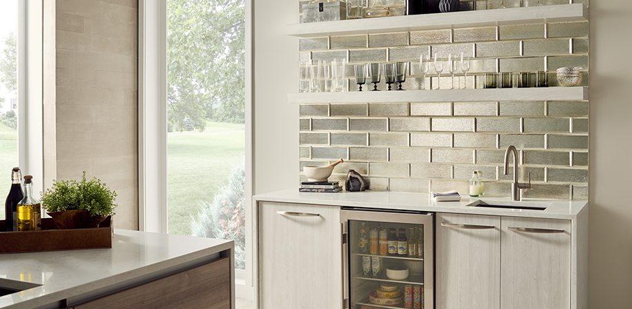 white quartz kitchen counters