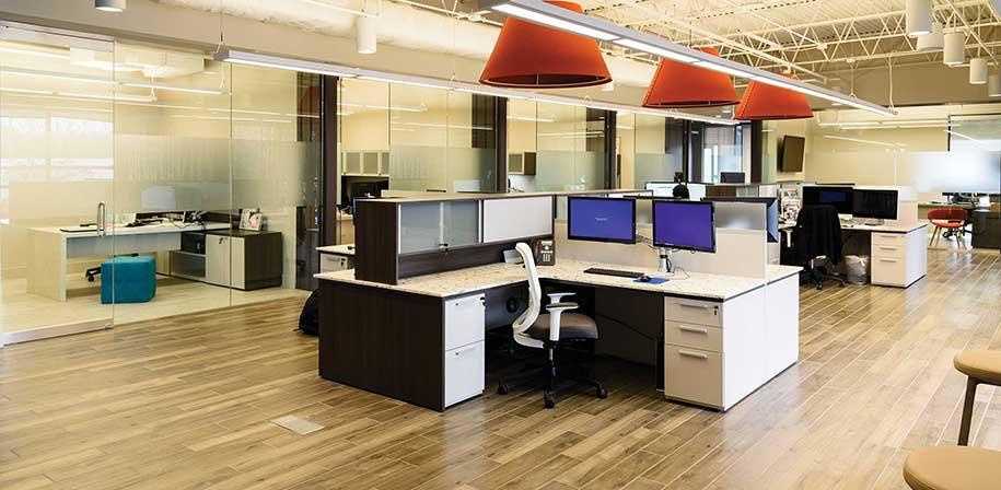 white quartz office desks