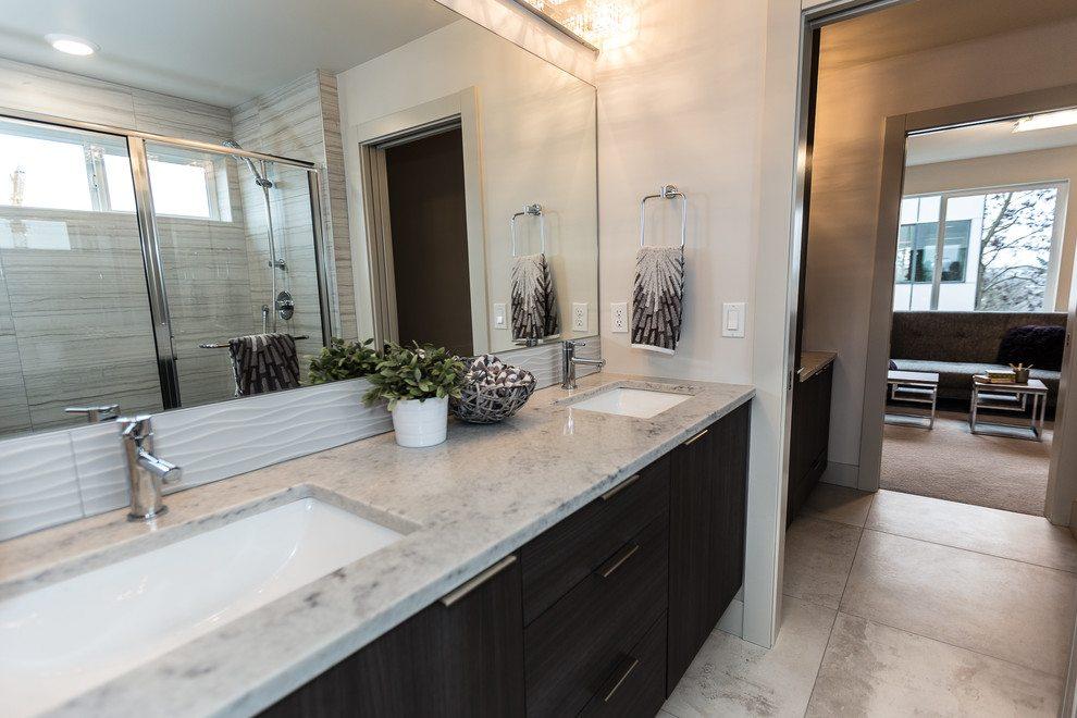 off white quartz bathroom counter